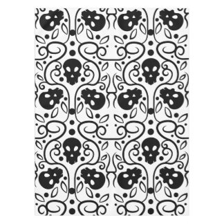 Damask skulls pattern tablecloth