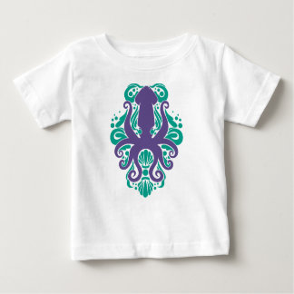 Damask Squid Ultra Violet on Arcadia Baby T-Shirt