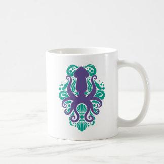 Damask Squid Ultra Violet on Arcadia Coffee Mug