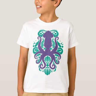 Damask Squid Ultra Violet on Arcadia T-Shirt