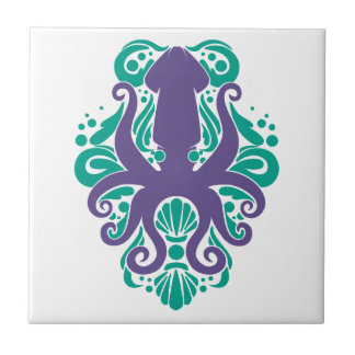 Damask Squid Ultra Violet on Arcadia Tile