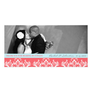 DAMASK THANK YOU PICTURE CARD
