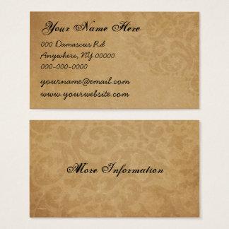 Damask Vintage Black and Rust Business Card