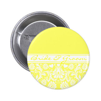 Damask Vintage Floral Wedding Matching Favors 2 Inch Round Button