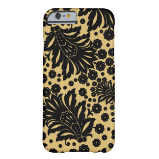 Damask vintage paisley feather floral pattern barely there iPhone 6 case