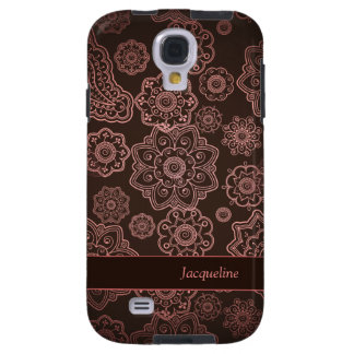 Damask Vintage Paisley Girly Floral Brown Pattern