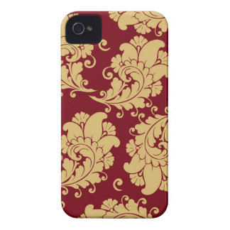 Damask vintage paisley wallpaper floral pattern iPhone 4 Case-Mate case