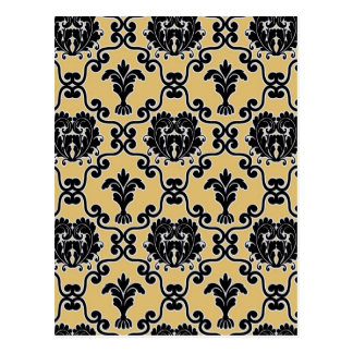 Damask vintage paisley wallpaper floral pattern postcard