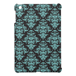 Damask vintage wallpaper blue pattern iPad mini cover