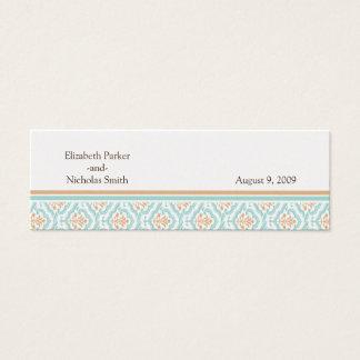 Damask Wallpaper Floral Wedding Website Card