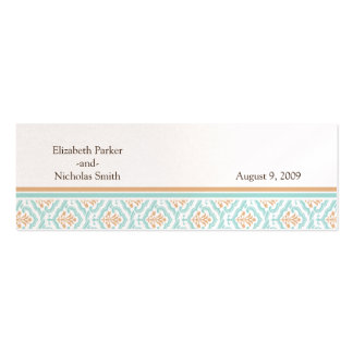 Damask Wallpaper Floral Wedding Website Card Mini Business Card