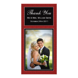 Damask Wedding Thank You Card Picture Card