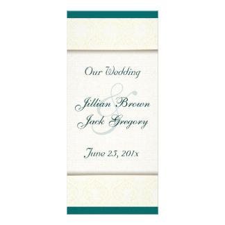 Damask White WEDDING Program