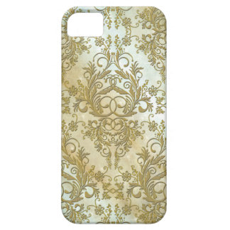 Damask Wildflowers, Morning Stars in Gold Case For The iPhone 5