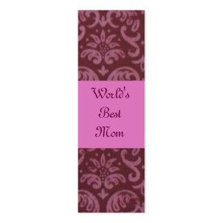 Damask World's Best Mom Bookmark Mini Business Card