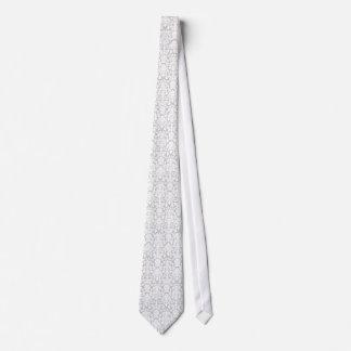 Damassé de gris argenté et de blanc cravate