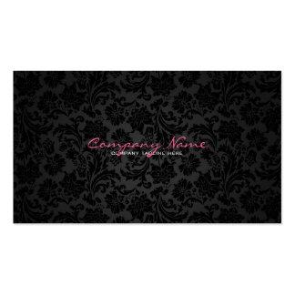 Damassés florales vintages blanches et noires simp cartes de visite professionnelles
