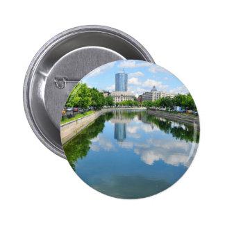 Dambovita river in Bucharest, Romania 2 Inch Round Button