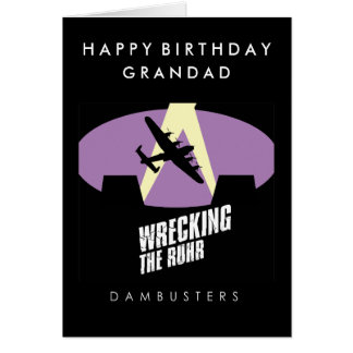 Dambuster Lancaster Birthday card