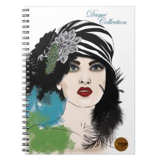Dame Journals - Glare Spiral Note Book