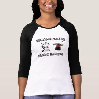 Dames 3 4 douille SecondGradeMagic raglan S-2X T-shirts