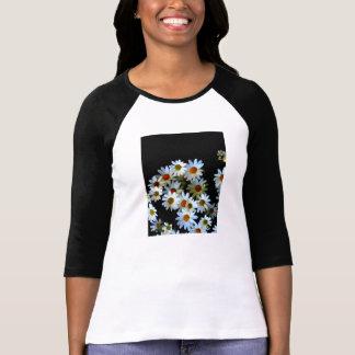 Dames de floraison d'obscurité 3/4 raglan de t-shirt