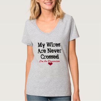 Dames de la chemise de l'électricien tee-shirt