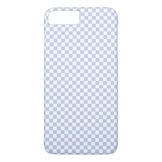 Damier bleu d'Alice dans le jardin anglais de pays Coque iPhone 7 Plus