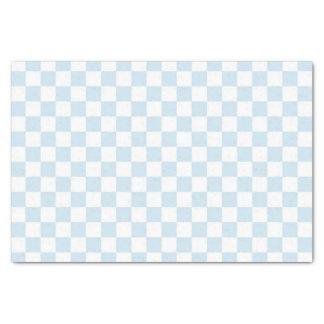 Damier bleu et blanc en pastel papier mousseline