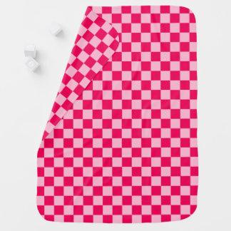 Damier classique de combinaison rose par STaylor Couvertures Pour Bébé
