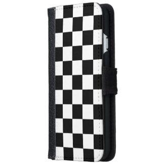 Damier Coque Avec Portefeuille Pour iPhone 6