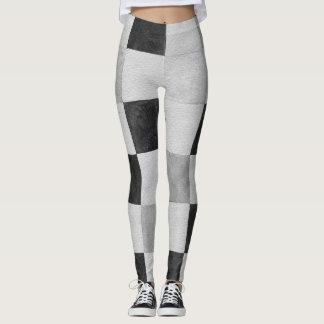 Damier noir et blanc leggings