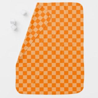 Damier orange de combinaison par Shirley Taylor Couvertures De Bébé