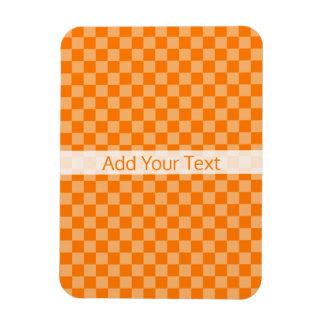 Damier orange de combinaison par Shirley Taylor Magnets Souples