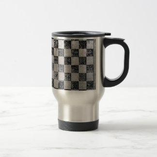 Damier peint tasse