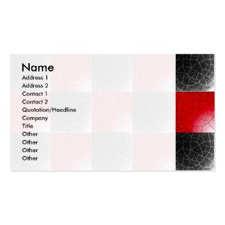 Damier rouge et noir texturisé modèle de carte de visite