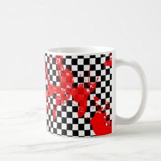 Damier sanglant tasses à café