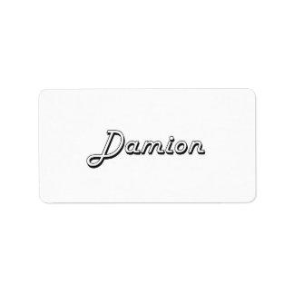 Damion Classic Retro Name Design Address Label