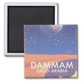 Dammam Saudi Arabia Travel poster Square Magnet