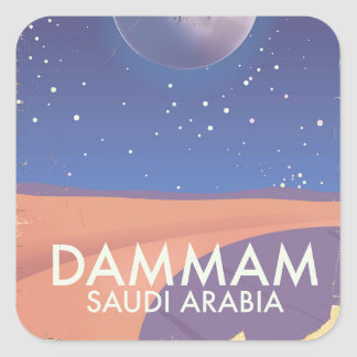 Dammam Saudi Arabia Travel poster Square Sticker