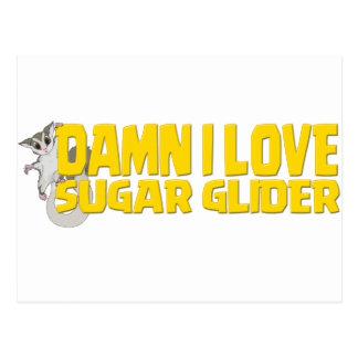 Damn-I-Love-Sugar-Glider Postcard