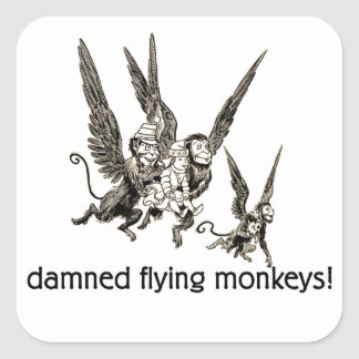 Damned Flying Monkeys Stickers