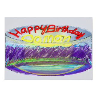 Damon's 2017 Blue Mountain Birthday Cake Card