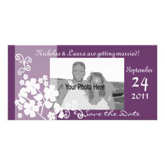 D'amour économies toujours la date cartes de vœux avec photo
