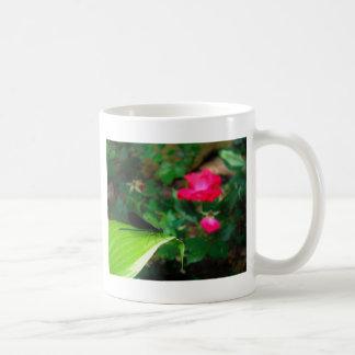 Damselfly and Rose Coffee Mug