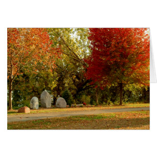 Dan Fogelberg Memorial in Fall Card