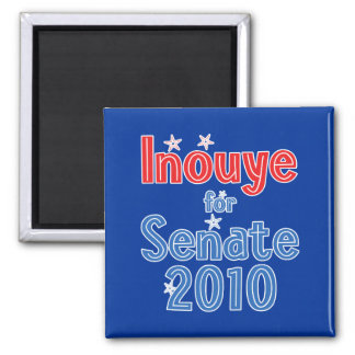 Dan Inouye for Senate 2010 Star Design Square Magnet