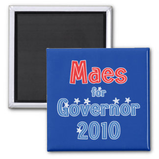Dan Maes for Governor 2010 Star Design Square Magnet