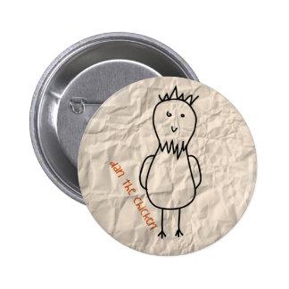 Dan the Chicken 2 Inch Round Button