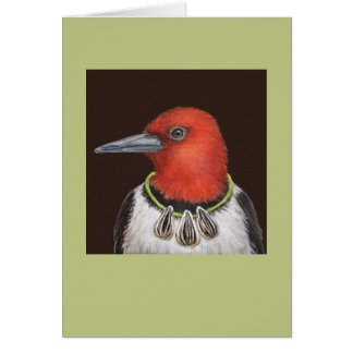 Dan the red-headed woodpecker card